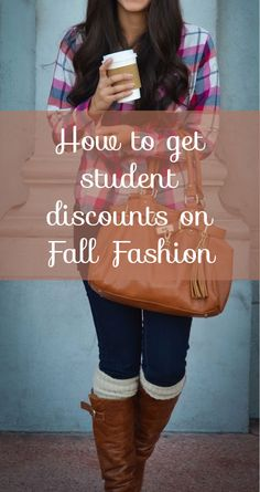 How to get student discounts on Fall fashion. Best PIN EVER!