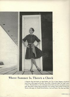 1959 Summer Check Dress