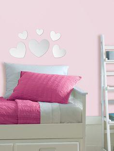 WallPops Mirror Heart Decals #walldecals  #wallart  #peelandstick  #WallPops  #wallstickers  #decor  #DIY  #decorating