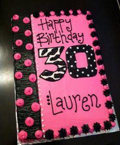 Birthday Cake Ideas For 30th Birthday