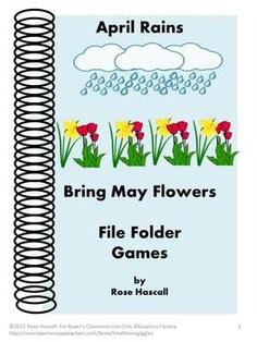 April Rains bring May Flowers File Folder Games