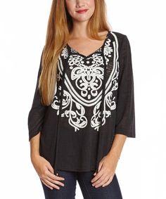 Black Filigree Knit Sweater