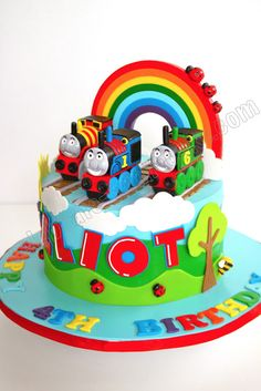 Celebrate with Cake!: Rainbow Thomas the Tank Engine Cake