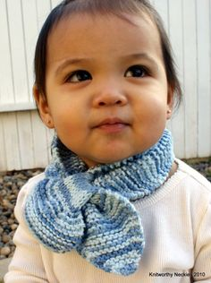 Knitworthy's Child Neckie in Faded Denim