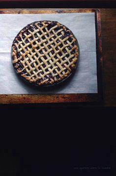 Midnight in Paris blueberry + mint pie // une gamine dans la cuisine