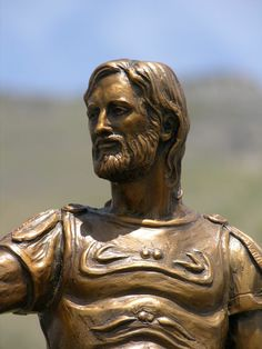 Arminius (Armin) defeated a Roman army in the Battle of the Teutoburg Forest in 9 C.E. Arminius is highly regarded for his military leadership skills and as a defender of the liberty of his people, the Germanic tribes.