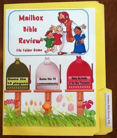Bible Fun For Kids:  Mailbox Bible Review with a link to print game out