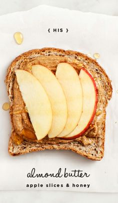 almOnd butter apple slices & honey