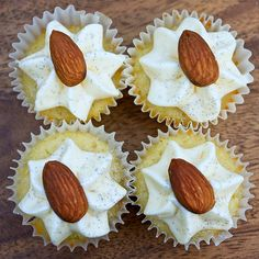 almond-orange cupcakes with citrus cream cheese frosting