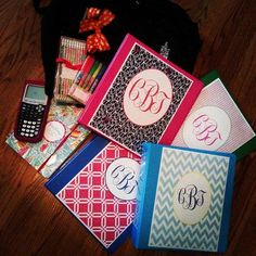 Monogram binder covers