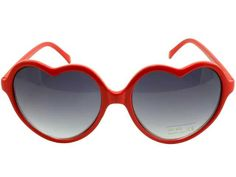 red heart shaped glasses <3