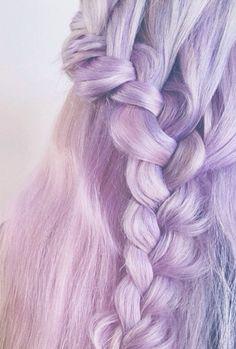 dye, color, pastel purpl, braid hairstyles, pastel hair
