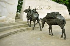 Park Lane,London: Animals in War Memorial, Throughout history many millions of animals have been chosen to serve and vast numbers of those animals died alongside their armies. From Pigeons to dogs to camels and elephants the  memorial is dedicated to all the animals that served, suffered and died alongside the British, Commonwealth and Allied Forces in the wars and conflicts of the 20th century