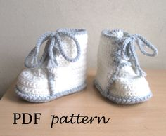 PDF crochet pattern - Booties Toddler Sizes -