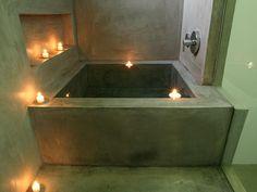 Stone soaking tub