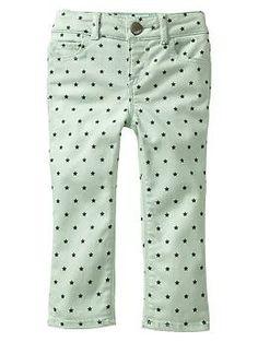 Star print skinny jeans   Gap