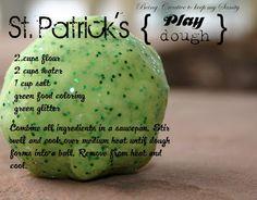 St. Patrick's Sparkly Play Dough.