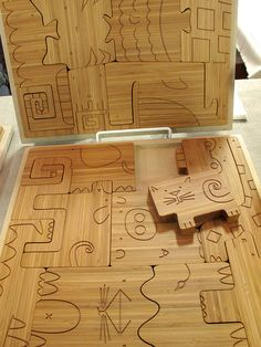 I love the detail of this puzzle. Wood toys rock.