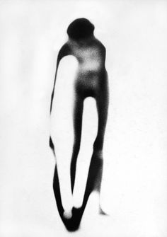 Nude on white background 1951 Paul Himmel
