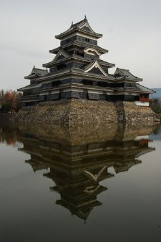 "Matsumoto Castle, also known as the ""Crow Castle"" because of its black exterior, is one of Japan's premier historic castles. It is located in the city of Matsumoto, in Nagano Prefecture.It's a National Treasure of Japan."