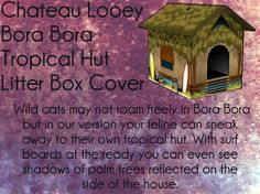 Chateau Looey Bora Bora Tropical Hut Litter Box Cover by Chateau Looey   - Price: $30.91 - #catlitterboxfurniture #cat #litter #box #furniture - http://www.catbedandtoy.com/cat-litter-box-furniture