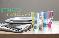 hand painted tumblers -- glass paint from a craft store, dollar store tumblers, voila! great gift idea