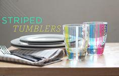 Striped tumbler DIY