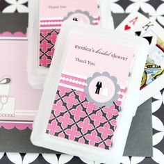 Personalized Playing Cards - Wedding Shower at WeddingFavors.org
