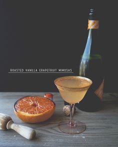 roasted vanilla grapefruit mimosas