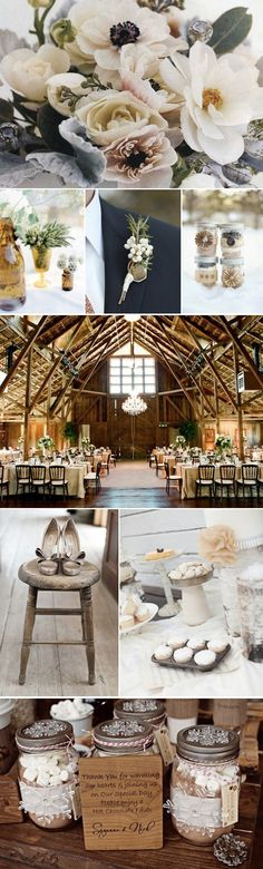 ♡ Rustic brown #winter #wedding #Inspiration ... For more wedding inspiration http://pinterest.com/groomsandbrides/boards/ photo pinned with love & light, to help you plan your wedding easily ♡