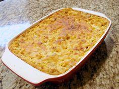 Aunt Peg's Recipe Box: Cheesy Chicken Spaghetti Bake