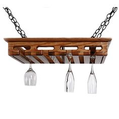 It's five o'clock somewhere, and the easy access of a hanging rack makes entertaining a breeze. | $150