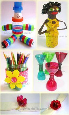 5 dicas de artesanato com garrafa pet