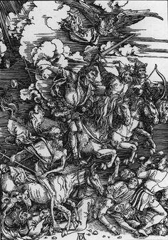 """Albrecht Durer the Four Horsemen of the Apocalypse   Durer, """"Four Horsemen of the Apocalypse"""""""