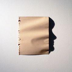 Portraits created from shadow by Kumi Yamashita