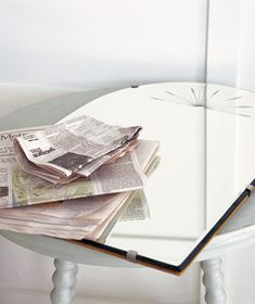 Wash your windows with newspaper
