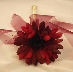 Flowergirl's Burgundy Gerbera Wand