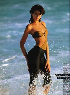 """Stephanie Seymour""""Les Maillots Paradent"""", Elle France, May 1986 Photographer: Hans Feurer"""
