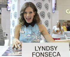 NIKITA's Lyndsy Fonseca is ready to meet the fans at the show's signing in the Warner Bros. booth #CWSDCC #WBSDCC (©2013 WBEI. All Rights Reserved.)
