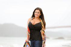 American famous 2busty model Wendy Fiore in Baker Beach Haze