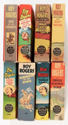 Roy Rogers Big Little book spines, 1930s