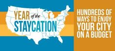 Fun on a Budget – Staycation Ideas All Across the USA `this is a great PIn if you ever travel to any of these cities!