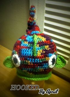 Kids crochet Funky Fish Hat by HookedByApril on Etsy, $12.00