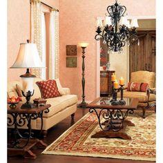 "A romantic chandelier. Kathy Ireland Ramas de Luces Bronze 30"" Wide Chandelier"