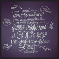 1 Corinthians 7:17, msg