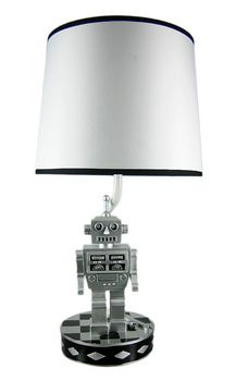 Retro 60s Style Robot Table Lamp Sci-Fi Robotic- FOR MELANIES BABY ROOM!!!!