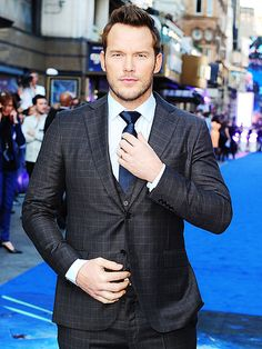 Holy smokes! Chris Pratt looks jaw-dropping hunky at the premiere of his film Guardians of the Galaxy at Empire Cinemas in London on Thursday.