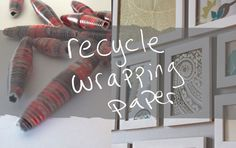 what to do with used wrapping paper