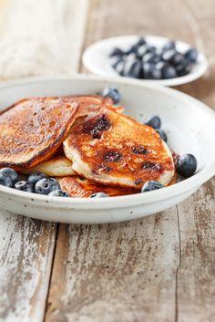 Oatmeal Blueberry Protein Pancakes