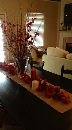 Fall tablescape without the vase